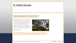 Zahnarzt Dr. Mathias Henneke in Blankenese